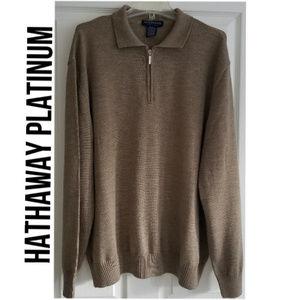 HATHAWAY PLATINUM Extra Fine Merino Wool Sweater
